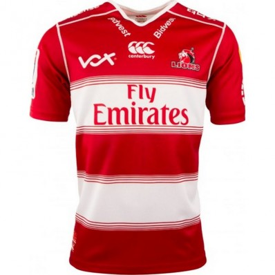Maillot Lions Super Rugby domicile 2018 Canterbury rouge blanc