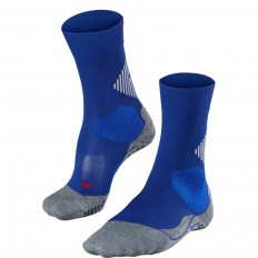 Chaussette unie 4 Grip Cus Falke bleu athletic