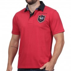 Polo homme manche courte French Rugby Club Ruckfield rouge moyen