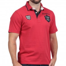 Polo homme manche courte Rugby à la Plage Ruckfield rouge