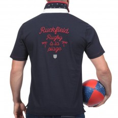 Polo homme manche courte Rugby à La Plage Ruckfield marine