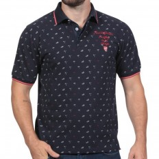 Polo homme Original Rugby à La Plage Ruckfield marine