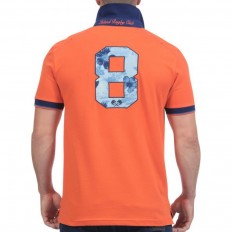 Polo homme manche courte Rugby Island Ruckfield orange
