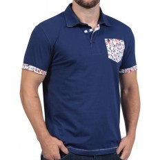 Polo homme manche courte Rugby Liberty Ruckfield marine