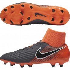 Chaussures Magista Obra II Academy DF FG Nike orange noir
