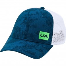 Casquette Blitzing Trucker 3.0 Under Armour marine blanc