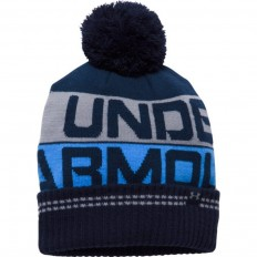 Bonnet homme Retro Pompon 2.0 Under Armour marine gris bleu