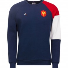 Sweat Fan Crew N°1 FFR XV de France 2018 Coq Sportif bleu