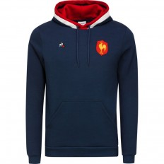 Sweat Hoody FZ Fan N°1 FFR XV de France 2018 Coq Sportif bleu