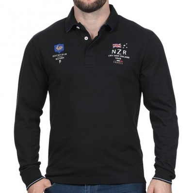 New Longue Manche Polo Homme Noir Ruckfield Zealand Match Achat Test wtOqF4