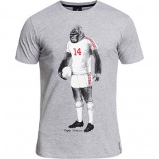 Tee shirt Gorilla Rugby Division gris chiné