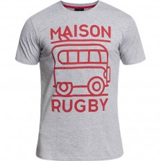 Tee shirt Marcelin Rugby Division gris chiné