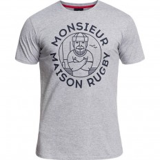 Tee shirt Trent Rugby Division gris chiné