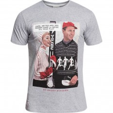 Tee shirt Couple Rugby Division gris chiné