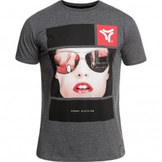 Tee shirt Reflection Rugby Division gris foncé