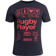Tee shirt Organic Rugby Division marine