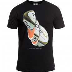 Tee shirt Orange Top 14 Rugby Division noir