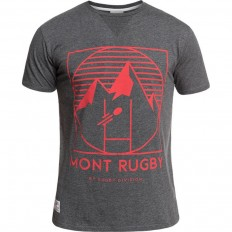 Tee shirt Montrugby Rugby Division gris foncé