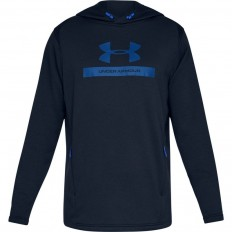 Sweat capuche MK1 Terry Graphic Under Armour bleu académie