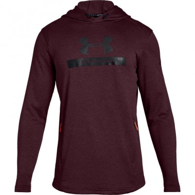 Sweat capuche MK1 Terry Graphic Under Armour rouge