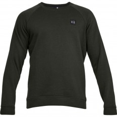 Sweat Rival Fitted Crew Under Armour vert foncé