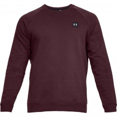 Sweat Rival Fitted Crew Under Armour rouge
