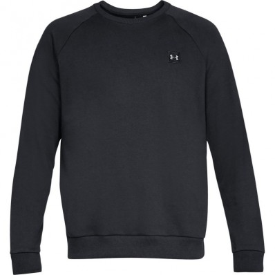 Sweat Rival Fitted Crew Under Armour noir