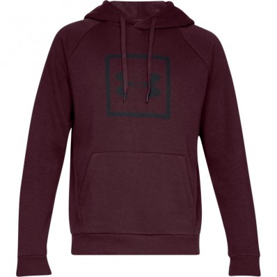 Sweat capuche Rival Fleece Logo Under Armour rouge foncé