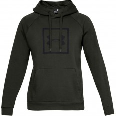 Sweat capuche Rival Fleece Logo Under Armour vert foncé