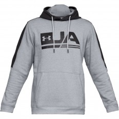 Sweat capuche Threadborne™ Fleece Graphic Under Armour acier chiné