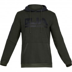 Sweat capuche Threadborne™ Fleece Graphic Under Armour vert foncé