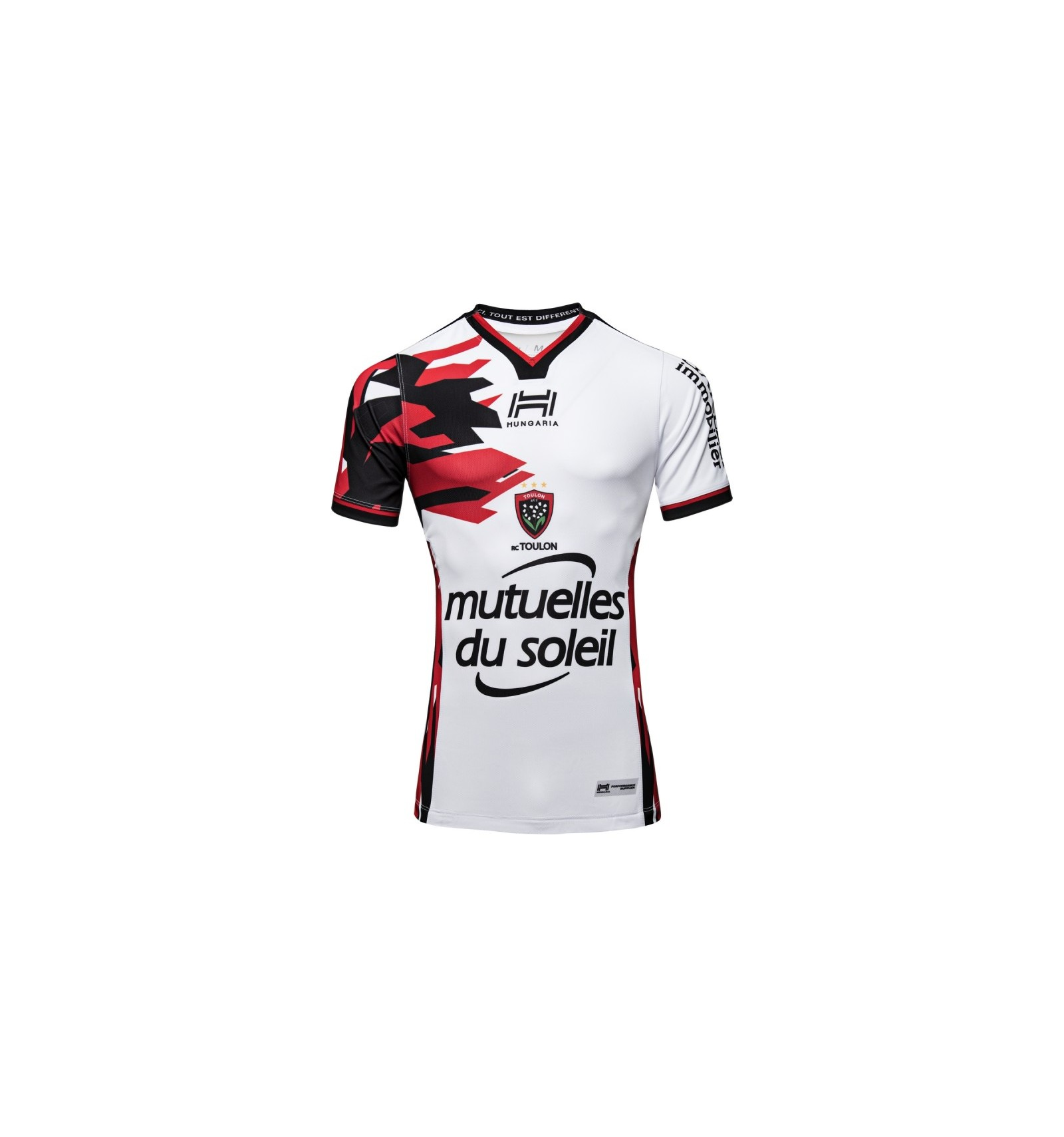 check out 36209 0dfe5 Maillot RCT Toulon third 2018-19 Hungaria blanc rouge noir