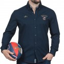 Chemise homme manche longue France French Rugby Club Ruckfield marine