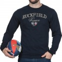 Tee shirt homme manche longue French Rugby Club Ruckfield marine