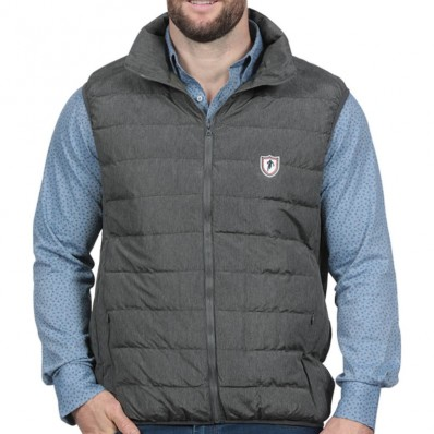 Doudoune sans manche homme French Rugby Club Ruckfield gris chiné