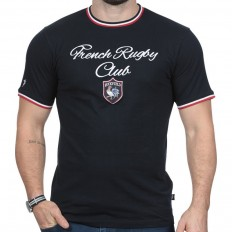 Tee shirt homme manche courte French Rugby Club Ruckfield marine