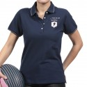 Polo femme manche courte French Rugby Club Ruckfield marine