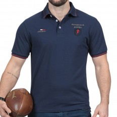 Polo homme manche courte France French Rugby Club Ruckfield marine
