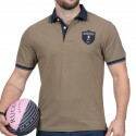 Polo homme manche courte We Are Rugby Ruckfield marron