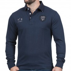 Polo homme manche longue N°8 We Are Rugby Ruckfield marine