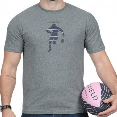 Tee shirt homme manche courte We Are Rugby Ruckfield gris chiné