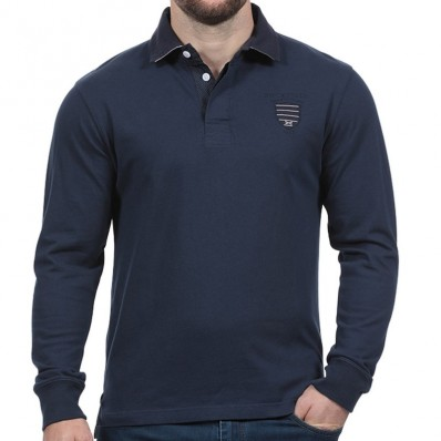 Polo homme manche longue We Are Rugby Ruckfield marine