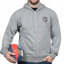 Sweat capuche zippé French Rugby Club Ruckfield gris