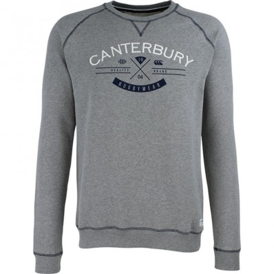 Sweat homme Haumi RC Casual LS Canterbury gris marl