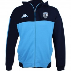 Sweat capuche Franca Montpellier Hérault Rugby 18-19 Kappa ciel bleu army