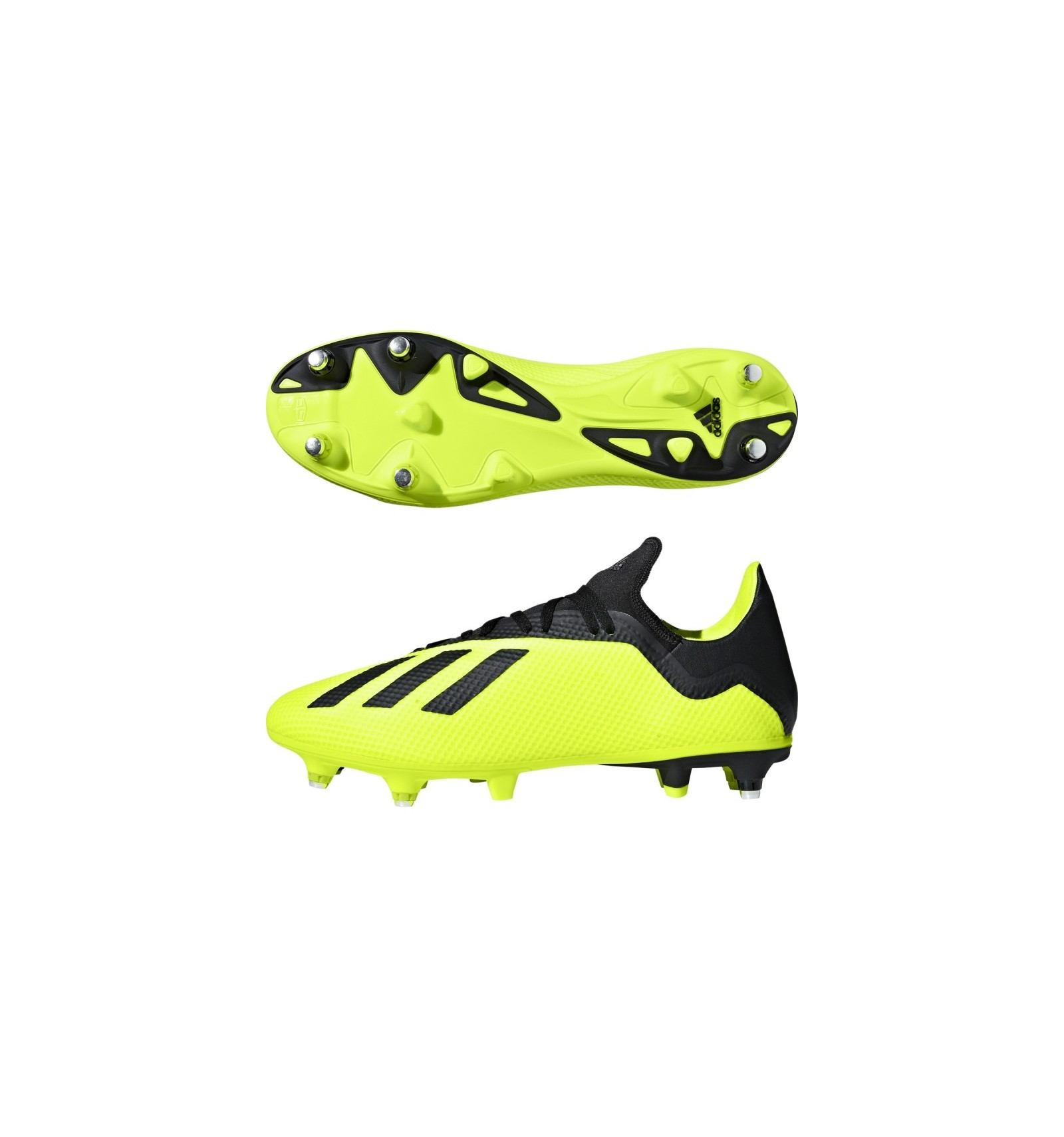 size 40 00925 d0b94 Noir Chaussures Jaune Blanc 3 Rugby 18 Adidas Sg X Achat XY6