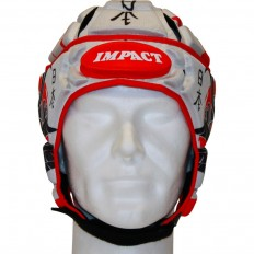 Casque rugby V2 Samouraï Impact blanc noir rouge