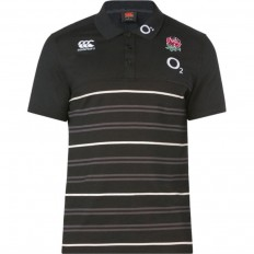 Polo Angleterre rayé coton jersey Canterbury anthracite