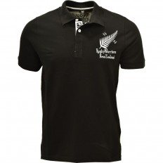 Polo homme manche courte New Zealand Rugby Warriors noir