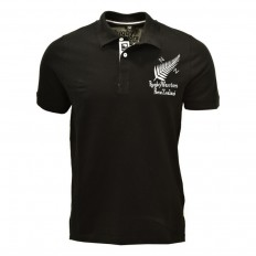 Polo enfant manche courte New Zealand Rugby Warriors noir